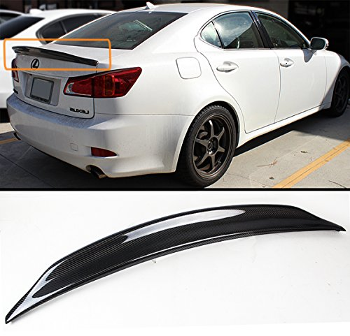 Cuztom Tuning FOR 2006-13 LEXUS IS250 IS350 ISF JDM CARBON FIBER DUCKBILL HIGH KICK REAR TRUNK SPOILER WING