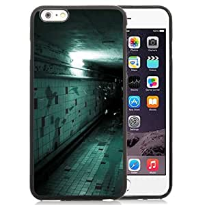 Fashionable Custom Designed iPhone 6 Plus 5.5 Inch Phone Case With Spooky Corridor Wall Tile Flying Halloween_Black Phone Case