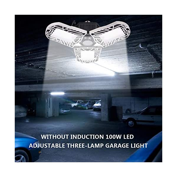 100W Deformable LED Garage Light Ceiling Light Factory Warehouse Industrial Lighting, 10000 Lumen IP65 Waterproof… 7