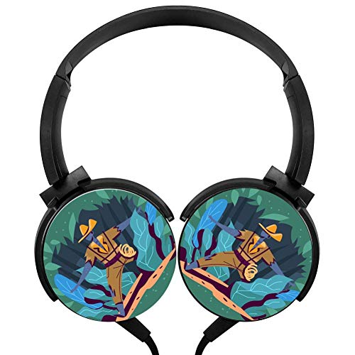 Wired Stereo Headphone Brave Jungle Explorers Portable Noise Cancelling Over Ear Mic Headset Earphone Earpiece (Earphones Headphones Bravo)