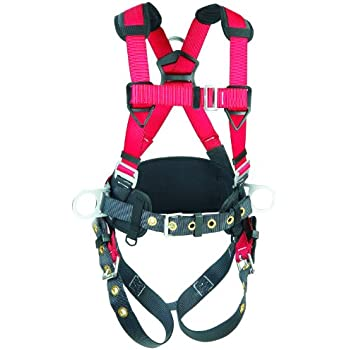 3M Protecta PRO Construction Harness, Back and Side D-Rings, 420  lb. Capacity, Medium/Large, 1191209