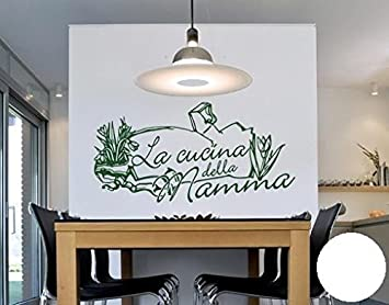 Wall Sticker Cucina Della Mamma, White, 100cm x 50cm: Amazon.co.uk ...