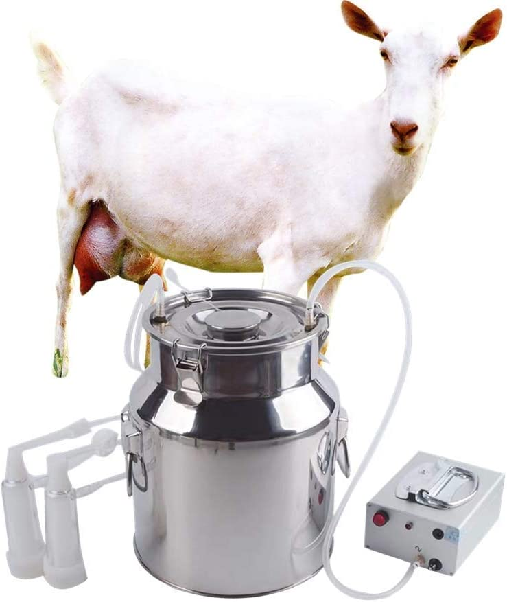Electric pulsation Milking Machine Single Bucket Piston Vacuum pulsation Milking Machine for Cows Cattle or Sheep Optional (5L, Sheep)
