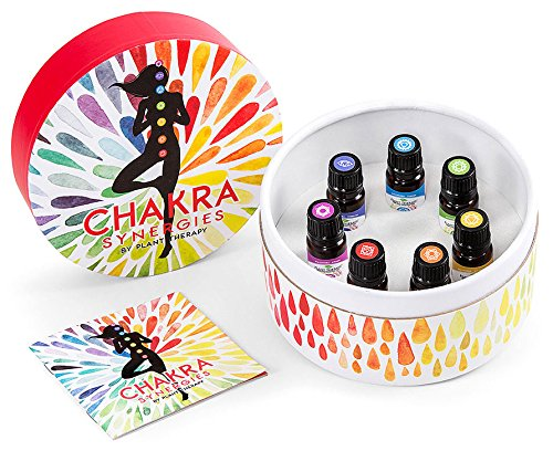 Plant Therapy Chakra Synergy Blends 100% Pure, Undiluted, Therapeutic Grade (Complete Set, 10 mL (1/3 oz))