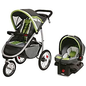 Graco FastAction Fold Jogger Jogging Baby Stroller w/ Infant Car Seat - Piazza