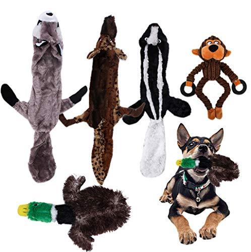 Pet Dog Toy Plush Squeaky Animal Dog Chew Toy Set