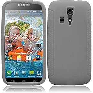 eFashion Rubbery Silicone Softy Case Cover for Kyocera Hydro Icon 6730 SmokyGrayColor also included Elegant Fashion Gift Bag