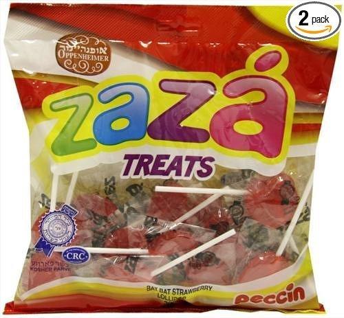 ZAZA bat-bat Corazón Lollipops Kosher – 300 gram (Pack de 2 ...