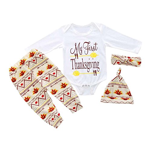 Ef My First Thanksgiving Letter Lovely Baby Outfits Clothes Romper Pants Legging (9M) (Thanksgiving Outfit For Baby Boy)