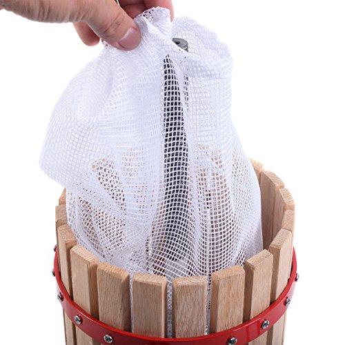 Eminetshop 1.6 Gallon Fruit Wine Making Press Cider Apple Grape Crusher Juice Maker Tool Wood Basket for Kitchen by Eminetshop (Image #5)