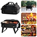 """Portable Small Charcoal Grill 12"""" Barbecue Camping Patio Backyard Grill BBQ"""