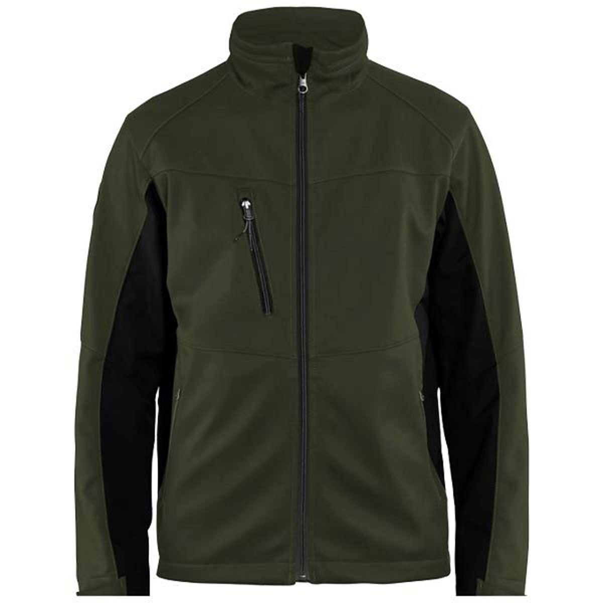 Blaklader Workwear Softshell Jacket Dark Olive Green//Black S