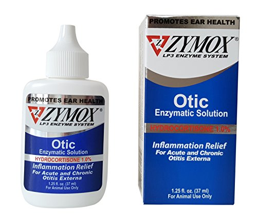 Pet King Brands Zymox Otic Pet Ear Treatment with Hydrocortisone, 1.25 (Pet Gem)