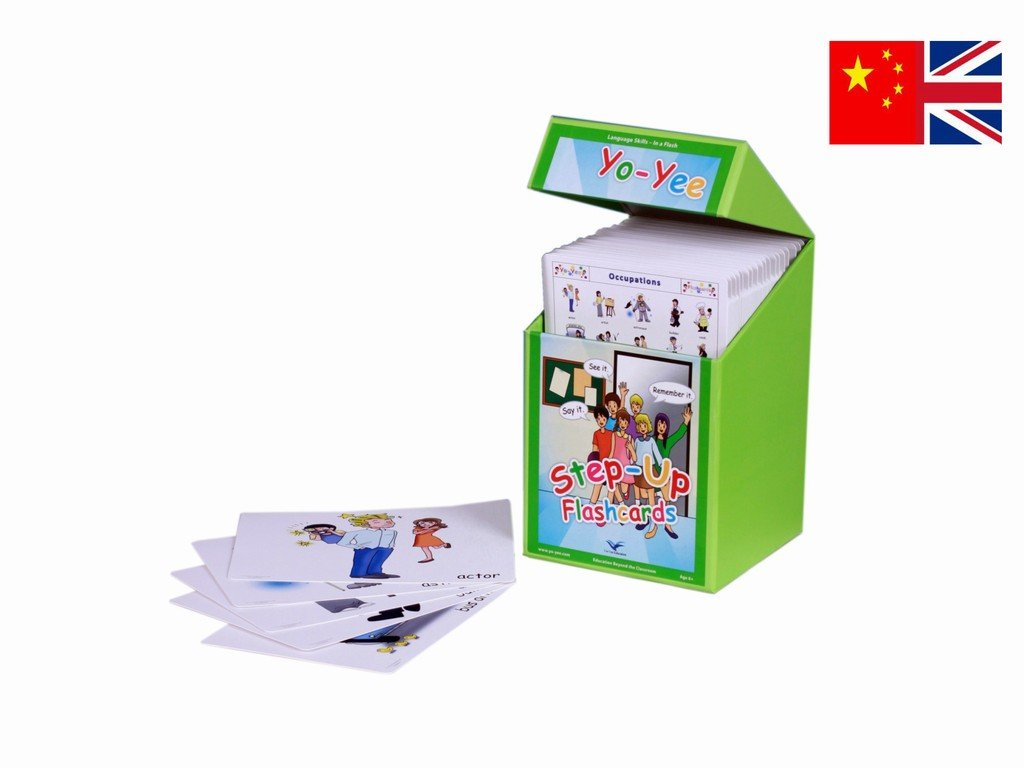 Chinese Step Up Flash Cards Kit for Teachers - Mandarin and Pinyin Flashcards