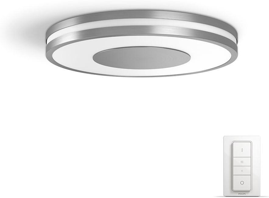 Philips Hue Being Plafón Inteligente LED con Mando, Luz Blanca Cálida a Fría, Posibilidad de Control por Voz