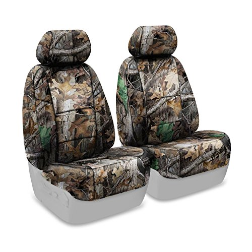 - Coverking Front 50/50 Bucket Custom Fit Seat Cover for Select Toyota Tacoma Models - Neosupreme (Realtree Advantage Timber Camo Solid)