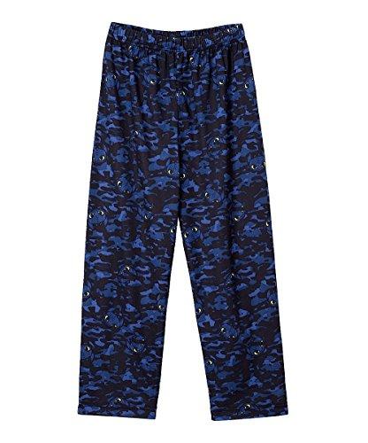 How to Train Your Dragon Night Fury Camo Pajama Sleep Pants, Black, 4/5