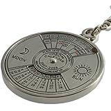 Change Mini Perpetual Calendar Keychain Ring Unique Metal Keyring 50 Years