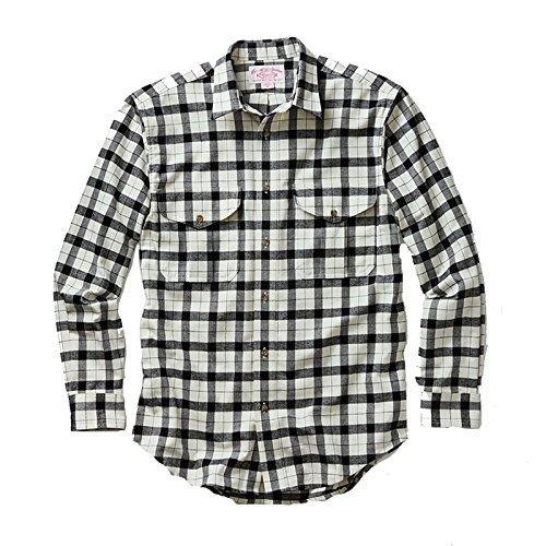 Filson Men's Alaskan Guide Shirt Cream Black Medium