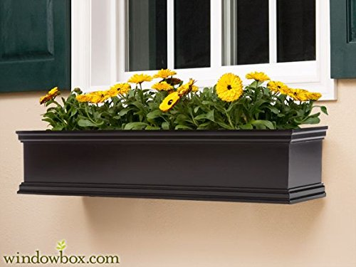 72'' Lancaster Fiberglass Window Boxes - Black