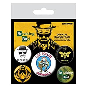Breaking Bad Los Pollos Hermanos 5-Button Paquete de Placas