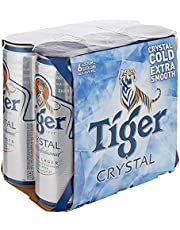 Tiger Crystal Beer Can, 320ml (Pack of 6)