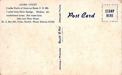 Aloha Court Vintage Postcard T223
