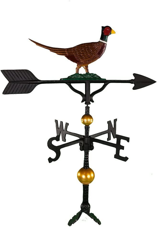 Montague Metal Products 32-Inch Deluxe Weathervane with Color Pheasant Ornament