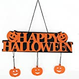 Halloween Decoration Happy Halloween Hanging Hang Tag Window Decoration Pumpkin Hanging Strips