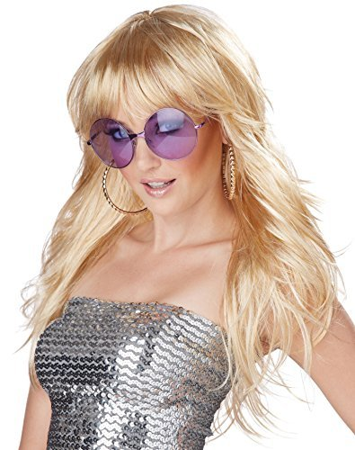 Long Blonde Fever Wig Fancy Dress Glamour Ladies Celebrity Womens Costume Wig by California ()