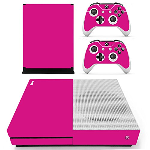 Chickwin Xbox One S Skin Vinyl Decal Full Body Cover Sticker For Microsoft Xbox One S Console and 2 Controller Skins (Only Rose) (Plug Glow Rossi)