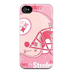 Scratch Resistant Hard Phone Case For Iphone 4/4s (csr10142asNg) Unique Design Nice Pittsburgh Steelers Skin
