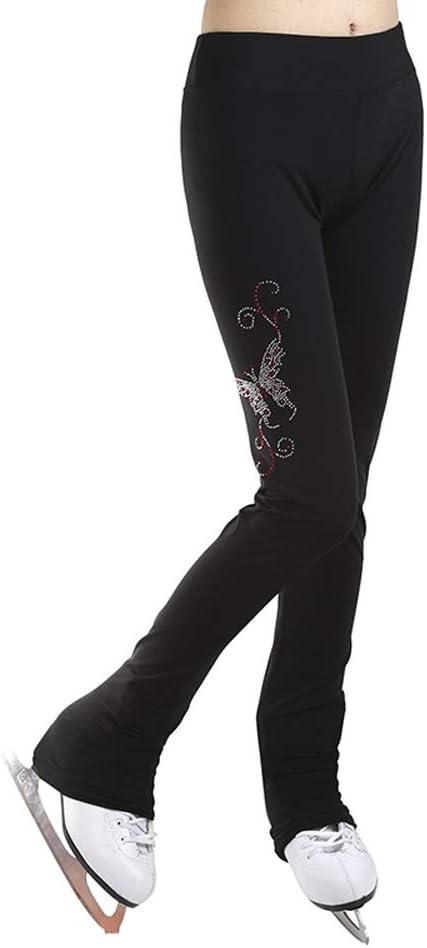 GHIACCIO Pattinaggio artistico vestito pratica Pantaloni Nero
