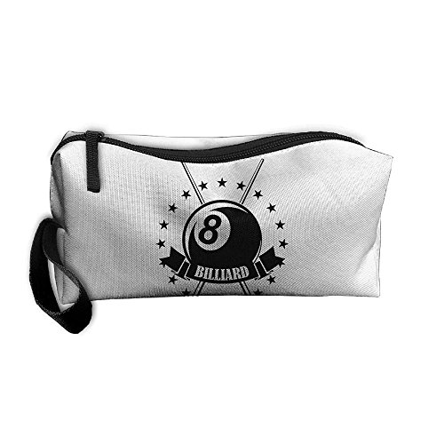 Cosmetic Bags With Zipper Makeup Bag Billiards Logo Middle Wallet Hangbag Wristlet Holder - Logo Billiard Cloth