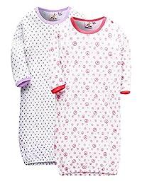 MARQUEBABY Babys Summer Sleep Gown Soft Cotton Lightweight Mittens Sleeper