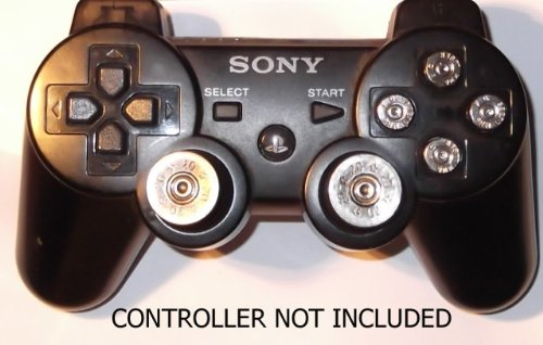 Sony PS3 Replacement Nickel Silver Bullet Full Set
