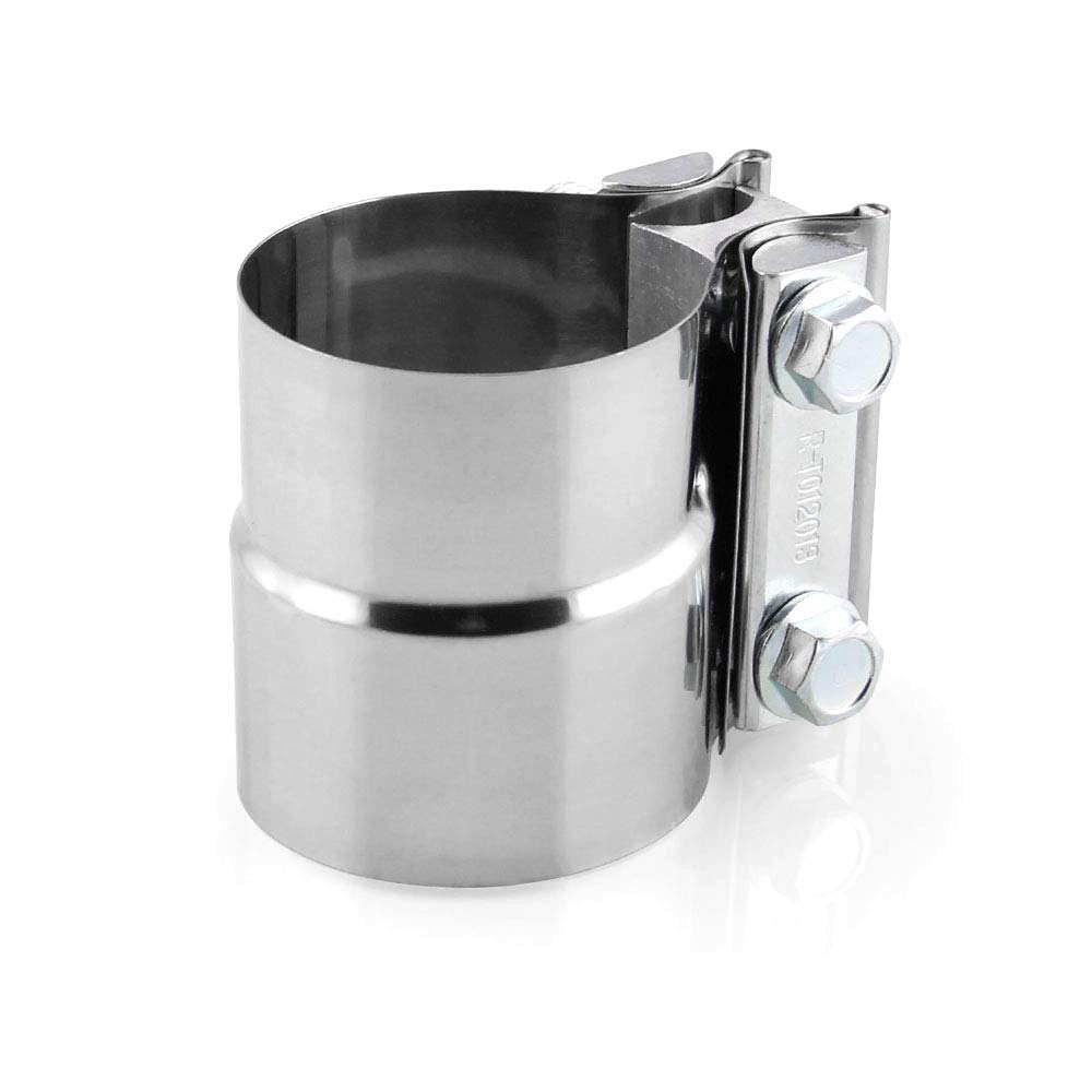 1 HIGGER 1Set Car Exhaust Sleeve Clamp Butt Joint Stainless Steel for Exhaust Pipe Muffler Elbow and Exhaust Tubing Connection 2Inch//2.5Inch//3Inch