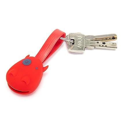 ViajeroStore Llavero cargador USB en forma de vaquita (Rojo ...