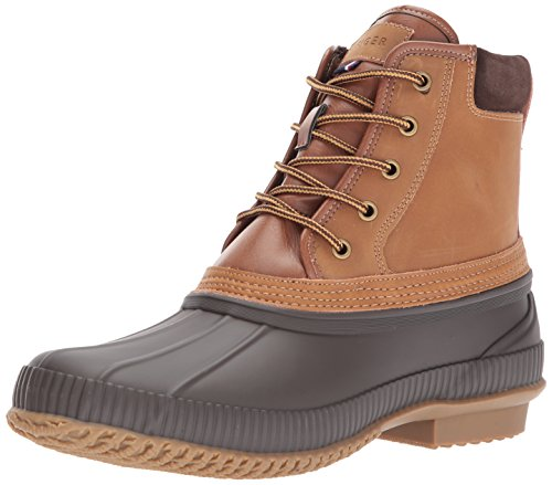 Tommy Hilfiger Men's Casey Rain Boot, Cognac, 12 Medium US