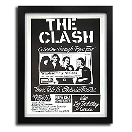 boxprints The Clash Gig Poster Cartel Icónico de la Leyenda ...