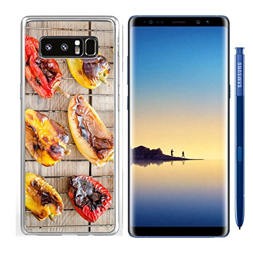 Luxlady Samsung Galaxy Note8 Clear case Soft TPU Rubber Silicone IMAGE ID 31678188 grilled bell peppers