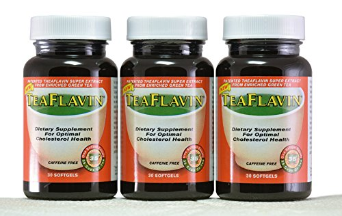 Green Tea Extract immune system support supplements, weight loss, Reduces Cholesterol, Natural Energy & Caffeine Free with Theaflavins - 1 Capsule = 35 Cups of Green Tea (90 Capsules/3 months supply) by TeaFlavin