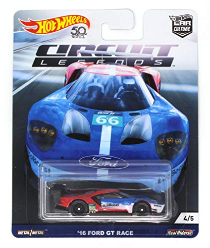 Hot Wheels Car Culture '16 Ford GT Race 4/5 Circuit Legends