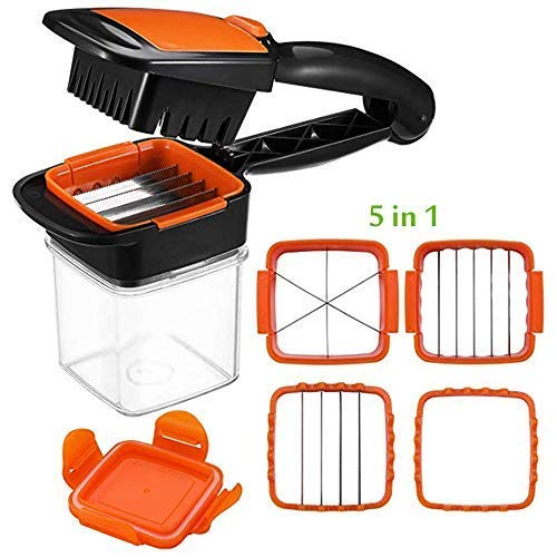 - Vegetable Chopper,FOHYLOY Safety Veggie Meals Cutter,Portable Quick Perfect for Kitchen Helper Cooking Xmas New Year Dinner Party (Orange)