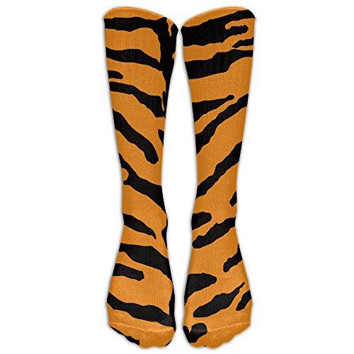 DaSOC Tiger Skin Pattern Unisex Novelty Knee High Socks Athletic Tube Stockings One - India Online Tortoise Buy
