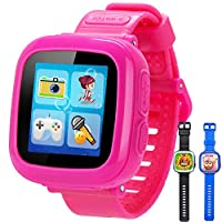 Product SpecsProduct Name: Toy Game WatchProduct Model:GBD-OK520Material: ABSScreen Size: 1.5 inchesScreen Version: TFT color LCD touch screenScreen Types: high-definition color screenEntertainment Features: support for speakersBattery Capacity: bui...
