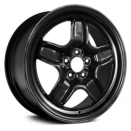 New Replacement Compatible Steel wheel 17 X 7; Black Full Face Painted OEM Quality ()