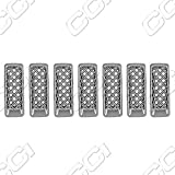 jeep grill overlay - 11-15 Jeep Patriot 7 Piece Chrome Grill Overlay