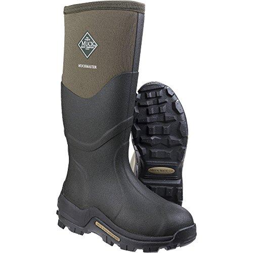 Muck Boots Mens Muckmaster alta transpirable reforzado zapatero para, hombre, Moss/Moss, 42 Moss/Moss