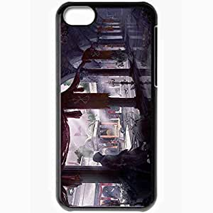 Personalized iPhone 5C Cell phone Case/Cover Skin Art Building Column Yard Candles Black
